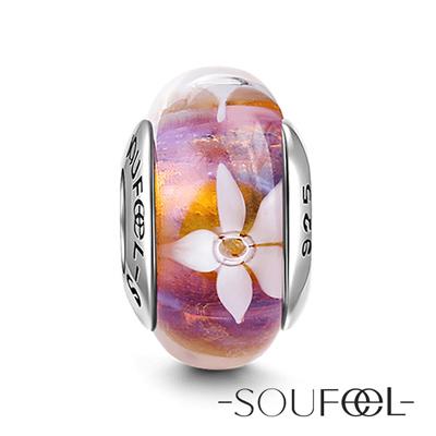 SOUFEEL索菲爾 925純銀珠飾 穆拉諾 彼岸花 琉璃珠