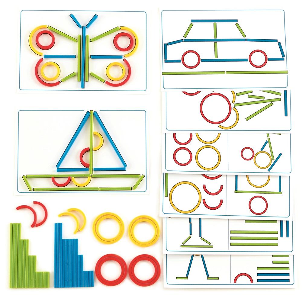 德國Hape愛傑卡 親子教育系列-圓形和條形遊戲