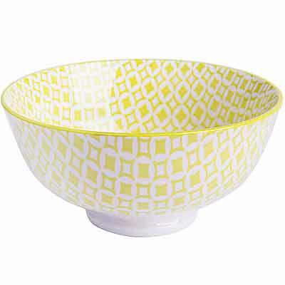 EXCELSA Oriented瓷餐碗 菱紋綠12cm