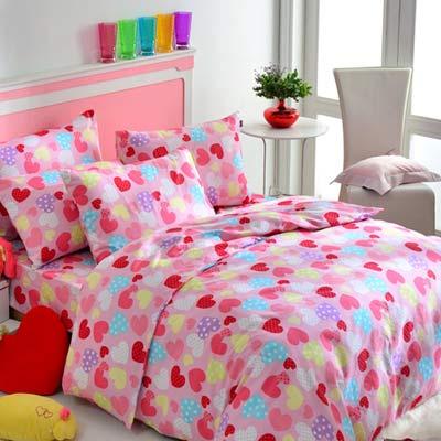 英國Abelia 彩漾甜心 加大四件式被套床包組