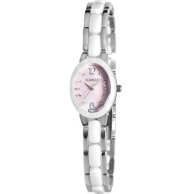 MANGO 花漾迷人陶瓷腕錶-粉/26mm
