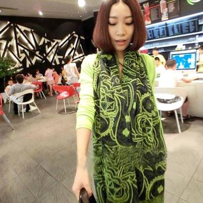 Aimee Toff 高雅氣質皇家巴黎紗圍巾(綠)
