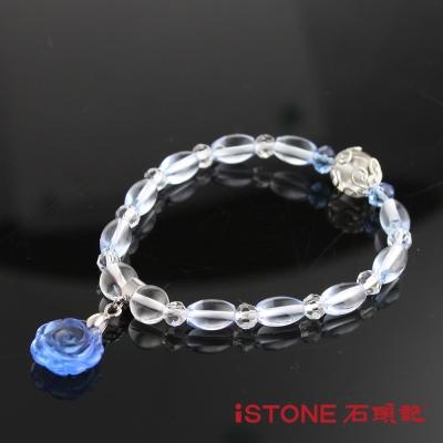 石頭記 花開富貴米粒藍水晶手鍊