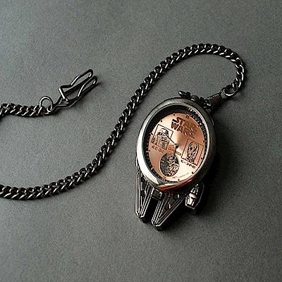 日版 星際大戰 Star Wars 千年鷹質感懷錶 B款 古銅色
