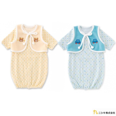 Nishiki 日本株式會社 可拆小背心兩穿式長袖連身衣