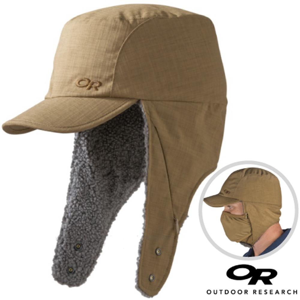 【美國 Outdoor Research】輕量透氣排汗保暖護耳帽子.刷毛帽_棕