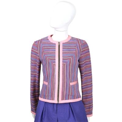 LOVE MOSCHINO 粉色系織紋設計拉鍊外套