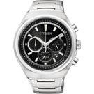 CITIZEN ECO-Drive 鈦金屬三眼計時腕錶(CA4021-51E)-黑/42mm
