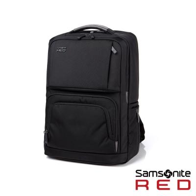 Samsonite-RED-EGERTON超大容量點綴色塊後背包L-15-6吋-黑