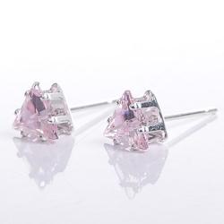 Aimee Toff 金炫三角美鑽造型耳環(紫)