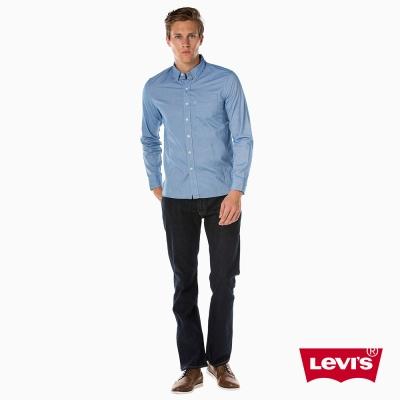 牛仔襯衫 男裝 休閒版型 單口袋 簡約素面- Levis