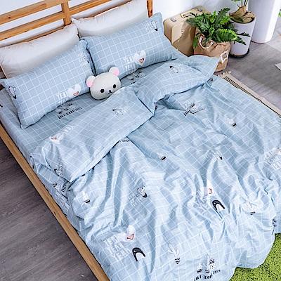 kokomos 扣扣馬 台灣製鎮瀾宮授權40支極致精梳棉雙人床包枕套三件組 朗格精靈