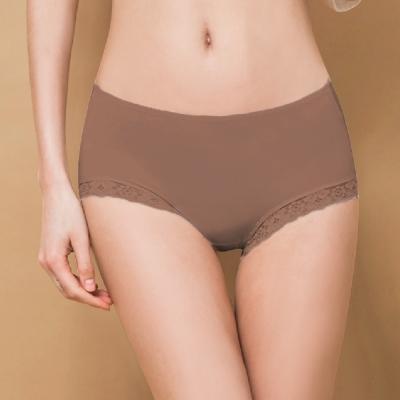 內褲 微性感蕾絲抗敏M-XL內褲 貴族褐 可蘭霓Clany