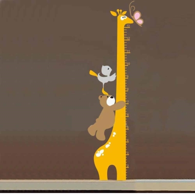 A-059手繪動物系列 小熊身高貼大尺寸高級創意壁貼  牆貼