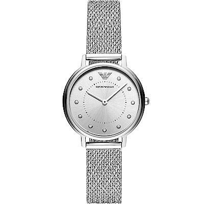 Emporio Armani自信美學時尚腕錶(AR11128)-32mm/銀