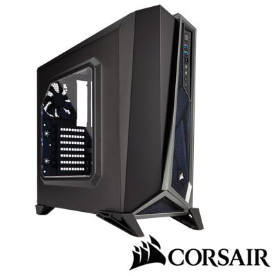CORSAIR SPEC ALPHA電腦機殼-黑銀