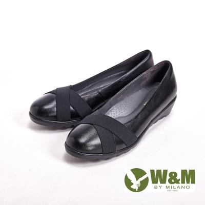 W&M 真皮中性造型休閒 女鞋-黑