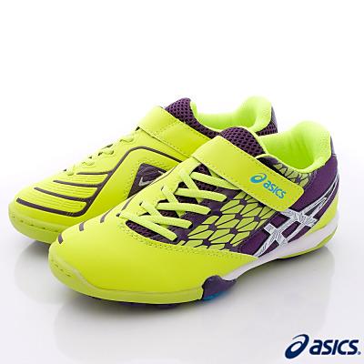 asics競速童鞋-足球運動款-SID1N-0701黃黑白(大童段)