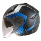 ZEUS瑞獅3/4罩式ZS-612A彩繪安全帽AD4(消光黑藍)