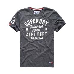 SUPERDRY 極度乾燥 文字短袖 T恤 灰色 0025