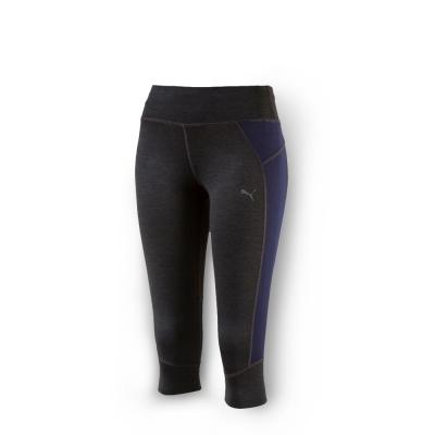 PUMA 女性慢跑系列PWRCOOL緊身七分褲-深麻花灰