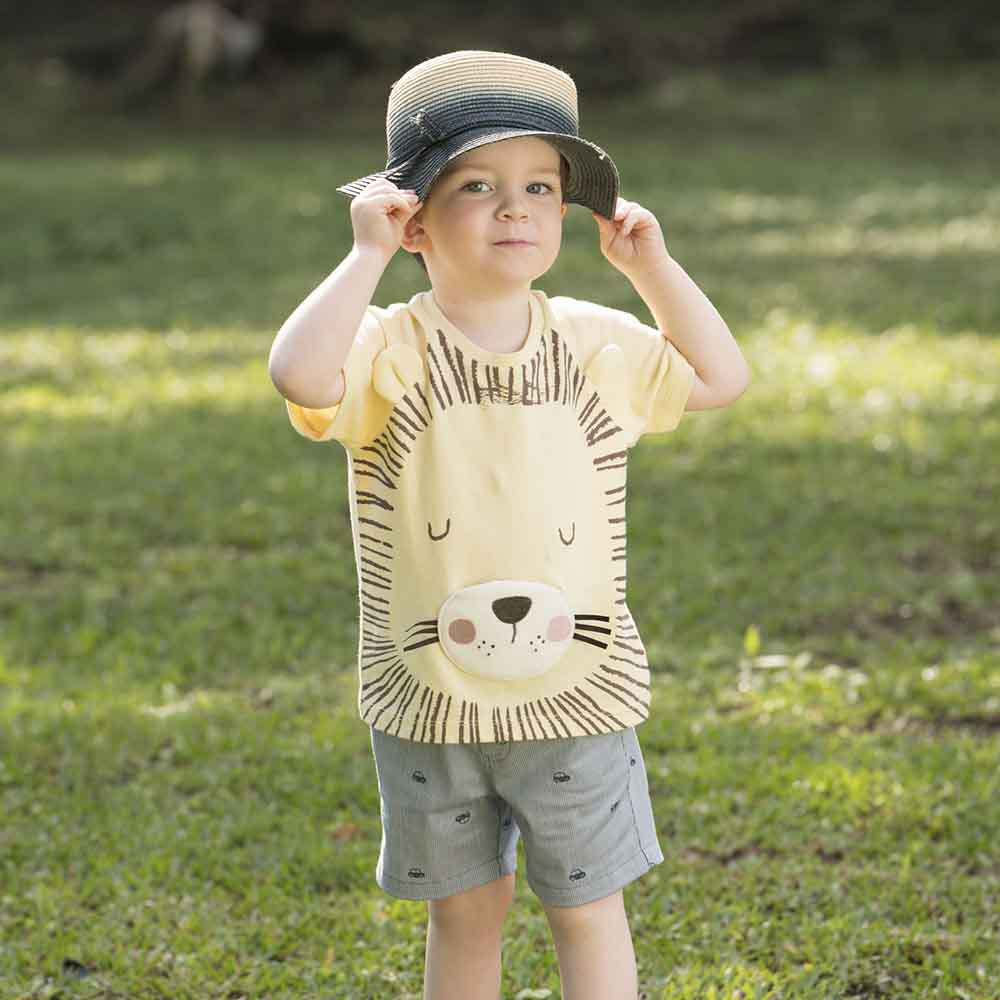 PIPPY 瞌睡獅子短袖上衣 黃