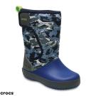 Crocs 卡駱馳 (童鞋) 兒童圖案雪地洛基靴 204704-0DB