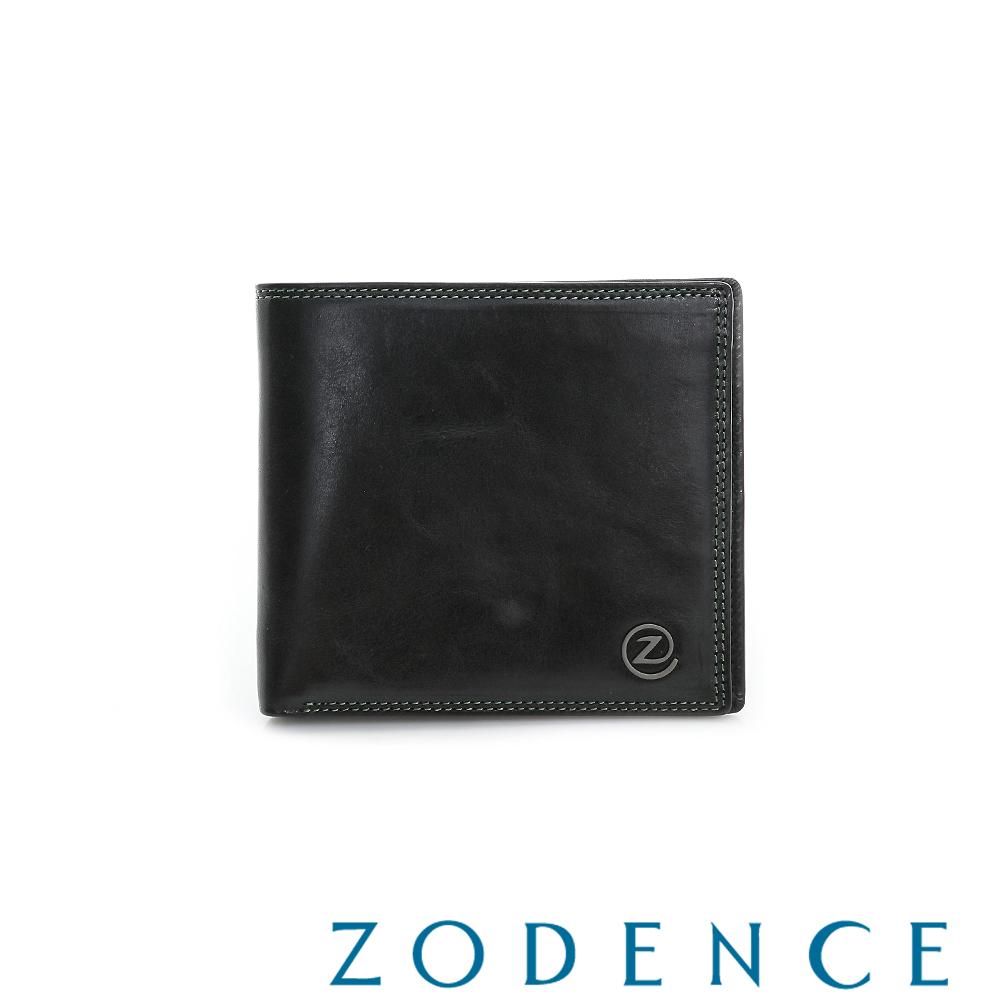 ZODENCE MAN 簡約系列兩折經典多卡層短夾 黑