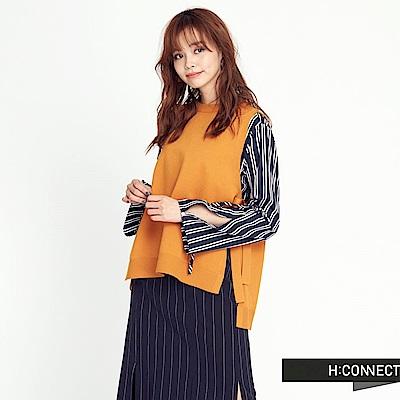 H:CONNECT 韓國品牌 女裝 - 雙邊綁帶針織背心 - 黃