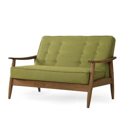 品家居 菲亞棉麻布實木沙發雙人座(兩色可選)-124x72x79cm-免組