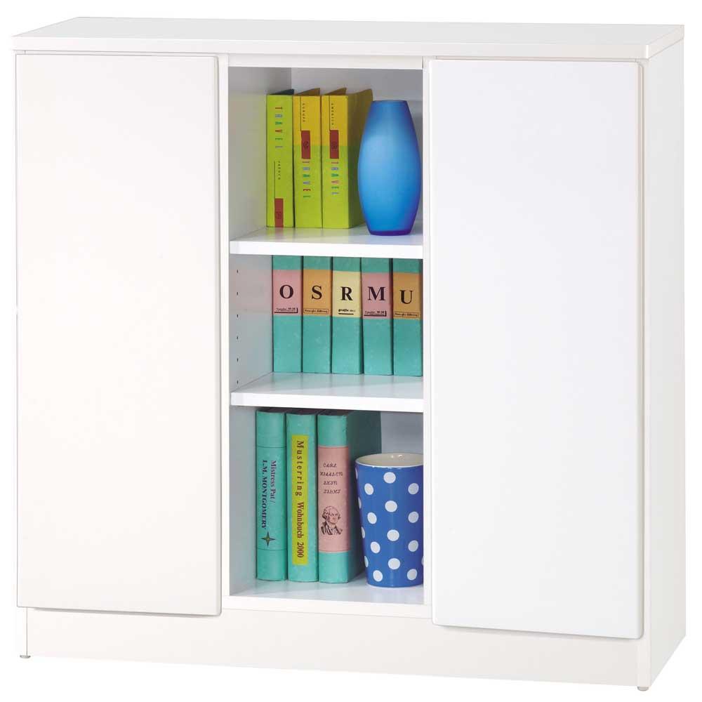 夢想家威尼斯3尺雙密門鏡面PU書櫃