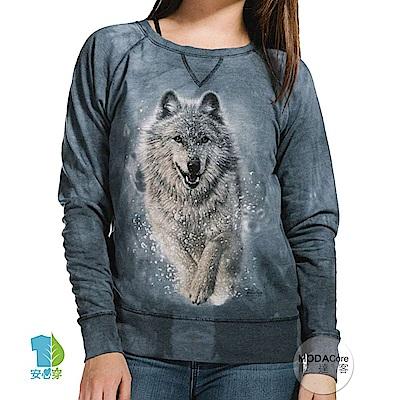 摩達客 美國The Mountain 雪狼開路 女版休閒長袖T恤