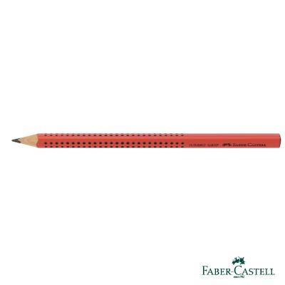 Faber-Castell 紅色系 JUMBO學齡前孩童專用大三角粗芯鉛筆(紅)