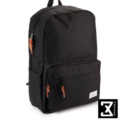 74盎司 後背包 韓版尼龍素色硬挺 後背包[TG-065]黑