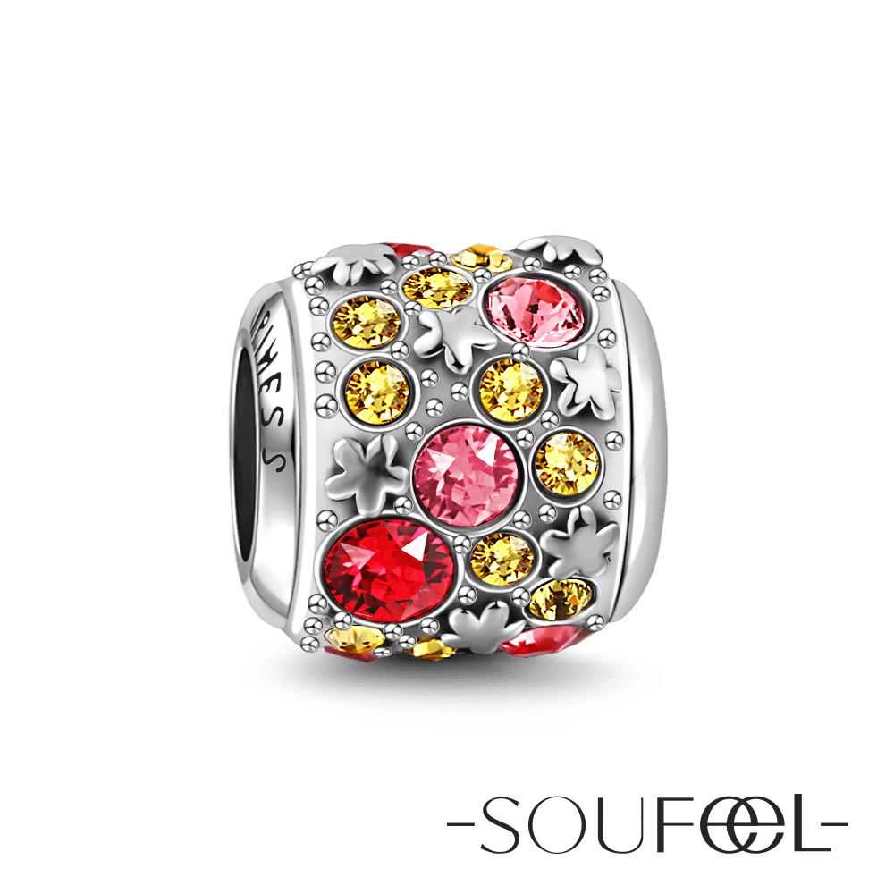 SOUFEEL索菲爾 925純銀珠飾 幸福 串珠