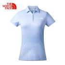 The North Face女款藍色舒適快乾短袖POLO衫