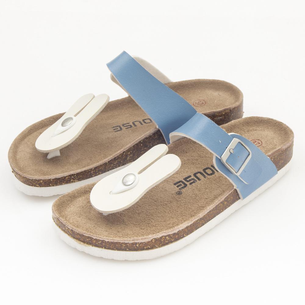 JMS-俏皮卡通軟Q厚底海灘夾腳休閒涼鞋-白色兔子