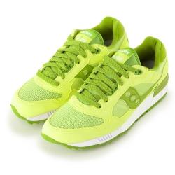 (女) 美國 SAUCONY 經典時尚休閒輕量慢跑球鞋-檸檬綠