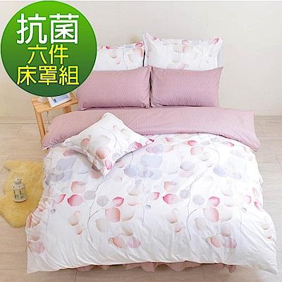 LooCa午後微風抗菌柔絲絨六件式床罩組(加大)