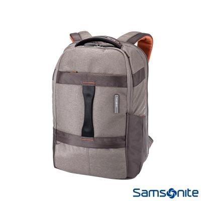 Samsonite-新秀麗GARDE-防水收納袋手提四段擴充筆電後背包15-6-卡其灰