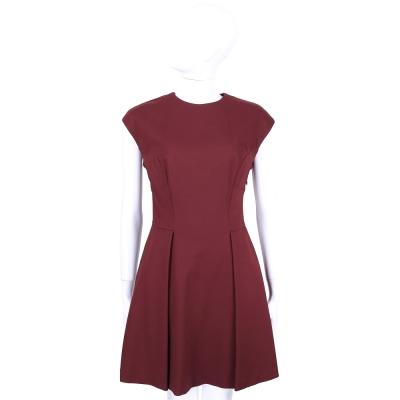 SCERVINO 深紅色小包袖設計洋裝