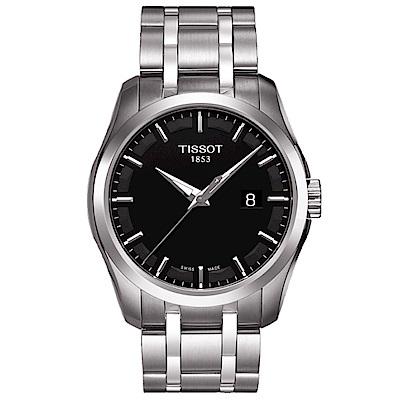 TISSOT天梭Couturier建構師簡約腕錶(T0354101105100)-39mm