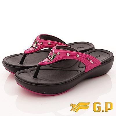 GP時尚涼拖-花漾晶鑽夾腳鞋款-SE530W-15桃(女段)