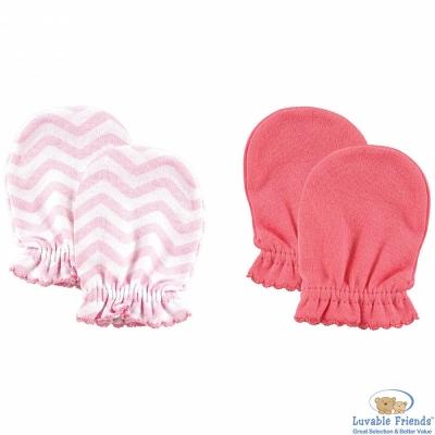 Luvable Friends 粉色幾何款嬰兒手套手襪套二件組