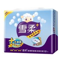 雪柔金優質抽取式衛生紙100抽x12包/串
