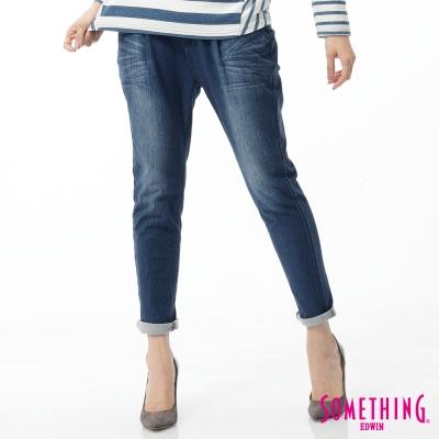 SOMETHING 小泡褲 LADIVA打折小泡牛仔褲-女-原藍磨