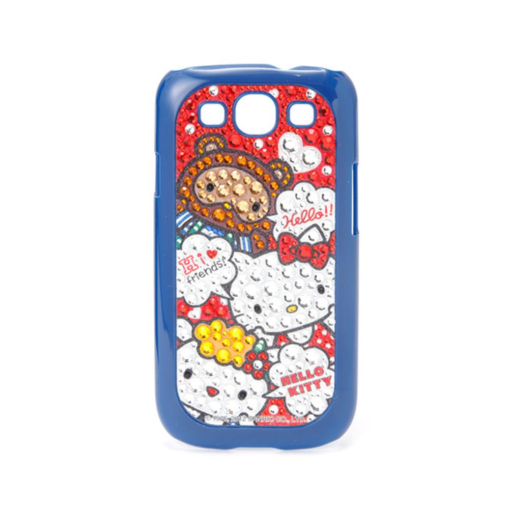 《Sanrio》HELLO KITTY寶石裝飾三星GALAXY S3保護套(好朋友)