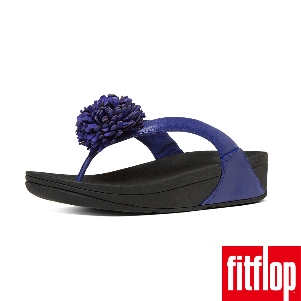 FitFlop FLOWERBALL LEATHER-皇家藍
