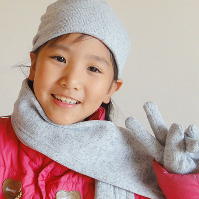 【CoFeel酷咖絨】咖啡混紡兒童時尚保暖三件組-灰色