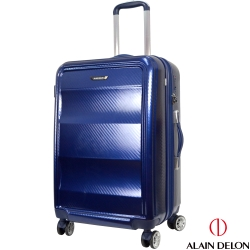 ALAIN DELON 亞蘭德倫 25吋極致碳纖維紋系列旅行箱(藍)